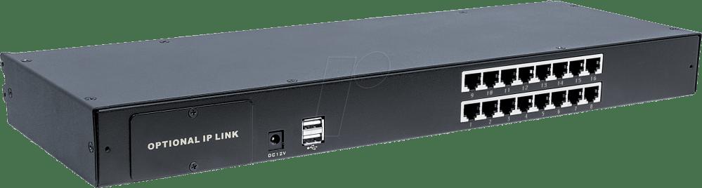 medium resolution of 16 port kvm switch cat5 vga intellinet 507899