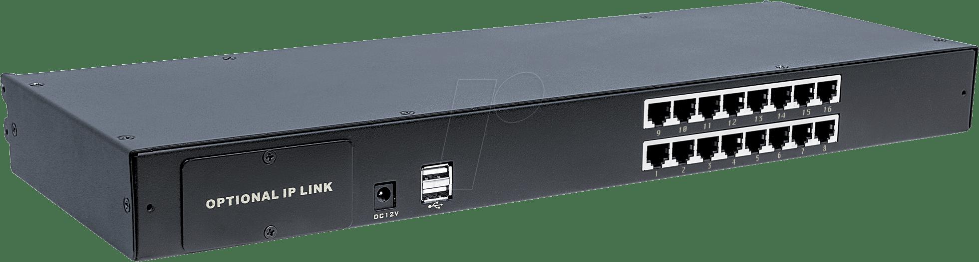 hight resolution of 16 port kvm switch cat5 vga intellinet 507899