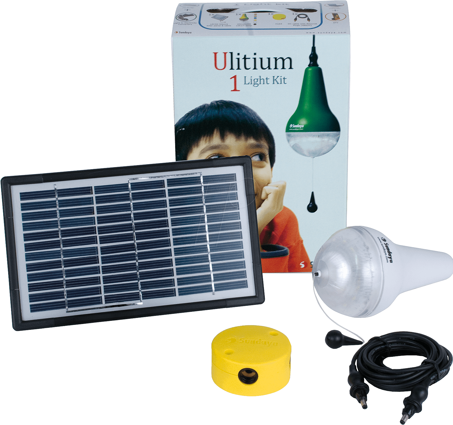 Sundaya 303205 Sundaya Ulitium Solar Light Kit, 1x 3 W At