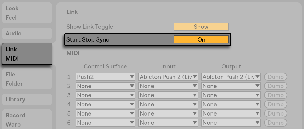 Link, Synchronisation und ReWire — Ableton