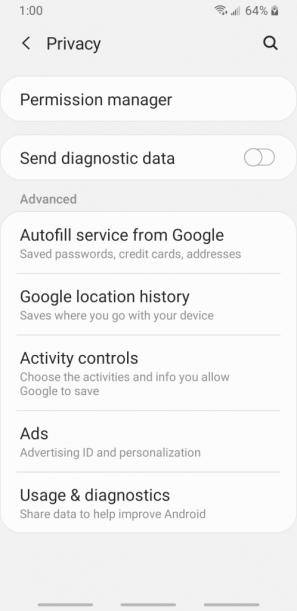 android privacy settings, How to secure my phone, small step to secure your phone