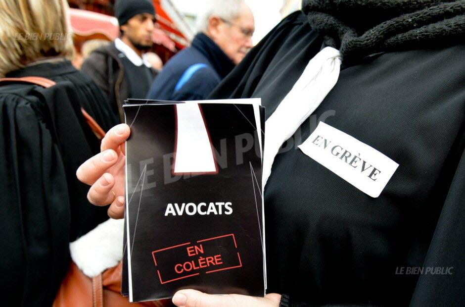 En 2014, la totalité des 330 avocats du barreau de Dijon avait été en grève pendant plusieurs semaines. Photo archives Philippe Bruchot