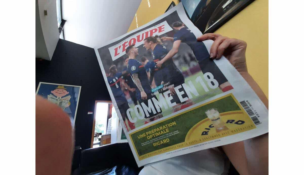 L'équipe (@lequipe) june 15, 2021. Euro 2021 Comme En 18 La Une Du Journal L Equipe Provoque L Indignation