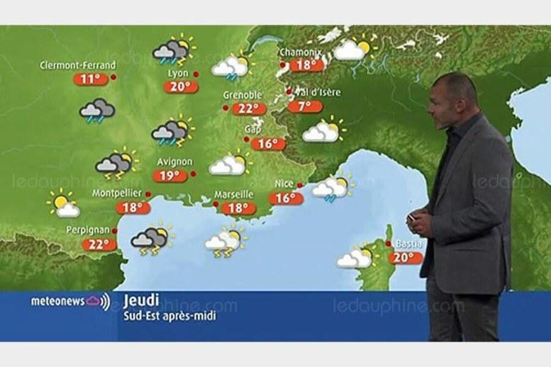 """MÉTÉO / UN TEMPS TOUJOURS AUSSI INSTABLE CE JEUDI. Si un retour des éclaircies est attendu dans les Alpes, une perturbation fortement pluvieuse et orageuse devrait affecter la vallée du Rhône. Côté températures, elles devraient remonter. On attend ainsi 22°C à Grenoble (Isère), 19°C à Avignon (Vaucluse) et 16°C à Gap (Hautes-Alpes). Les prévisions complètes de MeteoNews de ce jeudi sont à retrouver dans la rubrique """"La Matinale"""" de notre site."""