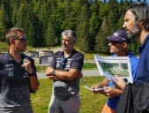 Alpine ski.  Inspection of the Fis in Méribel and Courchevel for the ultimate section of the 2022 World Cup