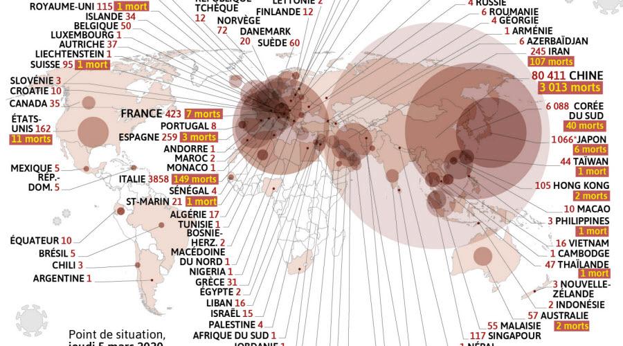 France/Monde   Coronavirus : trois nouveaux morts en France, 138 ...