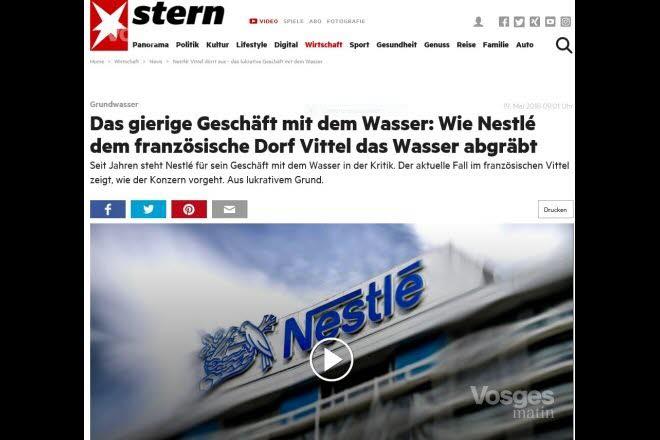 An article about Vittel in Der Stern magazine.