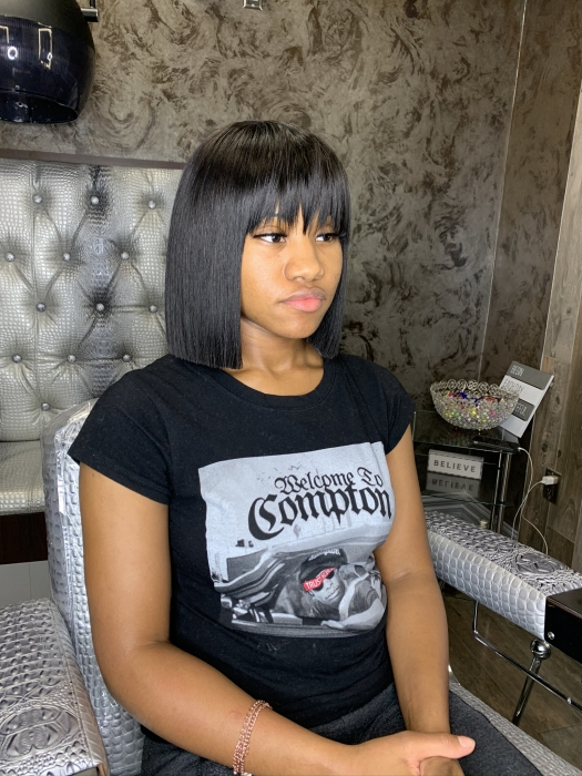 Bob With Bangs Weave : bangs, weave, Schedule, Appointment, Karrie, Lashay