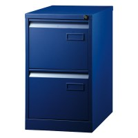 BISLEY 2-DRAWER FILING CABINET 1-WAY BLU