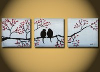 paintings on canvas, Large Abstract love from OritArt on Etsy