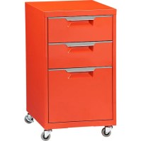 TPS bright orange file cabinet in new from CB2 | Happy Home
