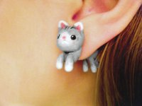Cute Kitten Fake Gauges Earrings from AllieCharms on Etsy ...