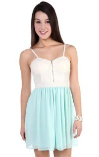crochet lace corset casual dress with from Deb Shops | Sun