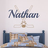Hockey Wall Decal Personalized With Name from Fleurish Walls