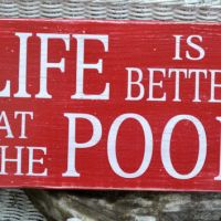 Pool Sign - Pool Decor - Outdoor Sign - from Signs Of Love
