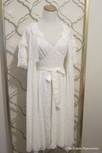 Vintage Peignoir Set Ivory Negligee & from linbot1Etsy on Etsy