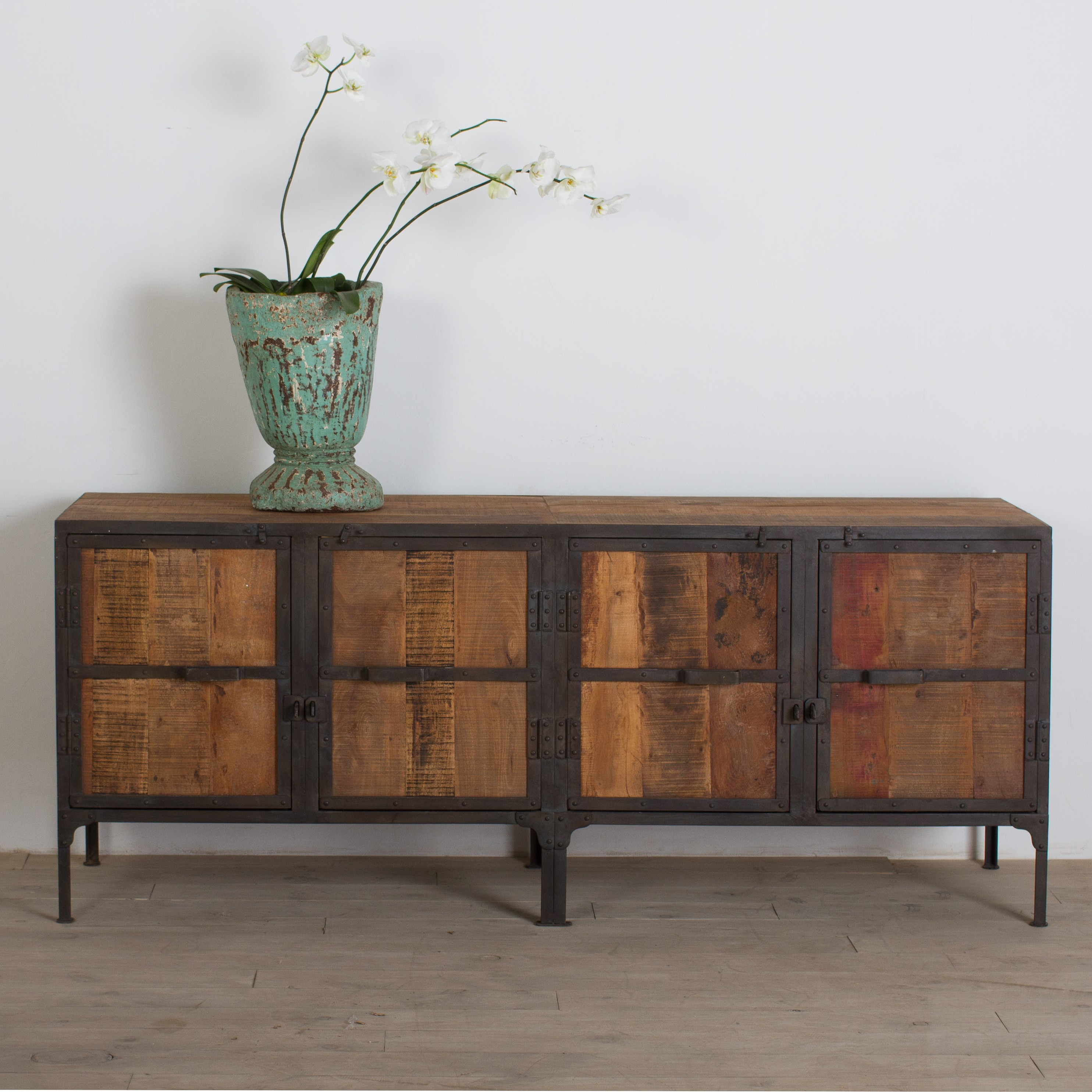 Hyderabad Reclaimed Wood and Metal Buffet from CG Sparks