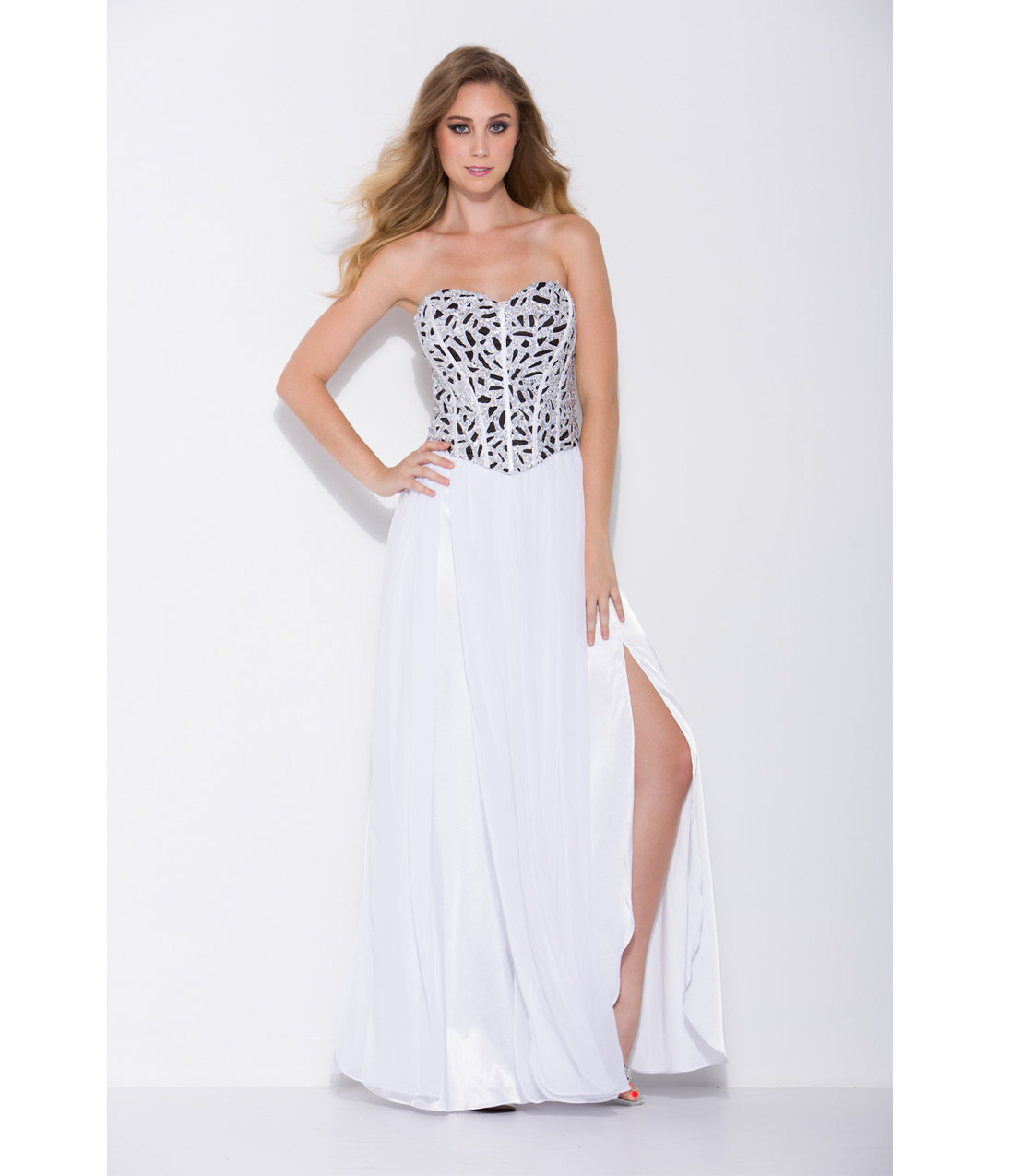 2014 Prom Dresses  White Strapless from Unique Vintage  Formal