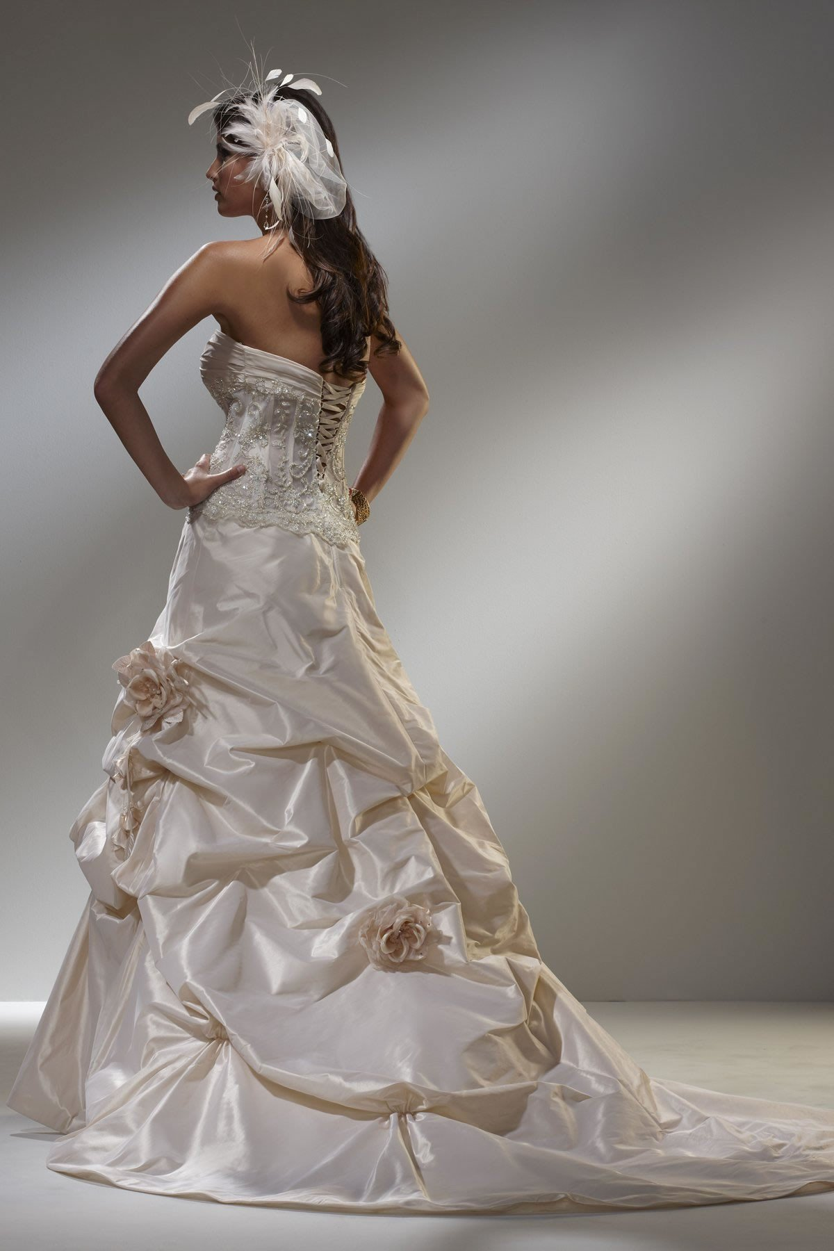 Gorgeous Wedding Gown Featuring a Sheer from maryswillcom  Epic