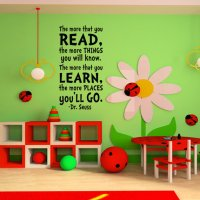 Childrens Wall Art Dr. Seuss Childrens from Happy Wallz | Dr