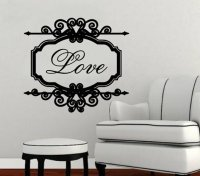 Wall Decal Love Vintage Look Sign Frame from ...
