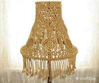 Macrame Lamp Shade for table or floor from craft2joy on Etsy