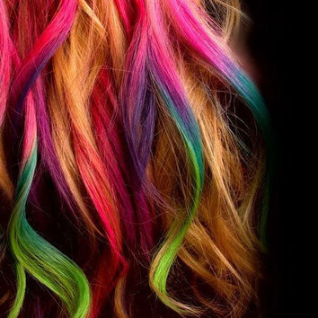 hair chalk temporary color for your hair from shareeboutique on