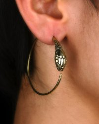 Snake Earrings - Hoop Earrings - from eleven44jewelry on Etsy