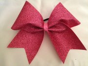 bubble gum pink glitter cheer bow