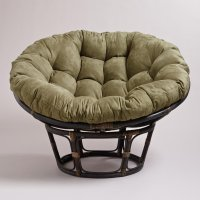 Olive Microsuede Papasan Chair Cushion from Cost Plus World