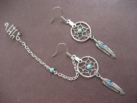 Turquoise Beaded Dream Catcher from Azeeta Designs | Want