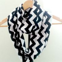 Womens Chevron Scarf, Black and White from VarietyCouture ...