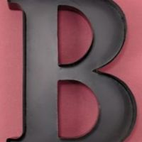 "Personalized Letter ""B"" Metal Wall Wine from Amazon"