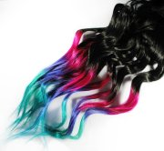 ombre rainbow dip dyed tips - human
