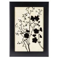 Black & Tan Floral Silhouette Framed Wall from Hobby Lobby