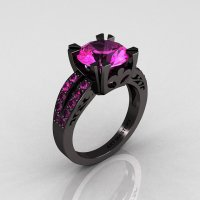 Vintage 14K Black Gold 3.0 Carat Pink & from artmasters on ...