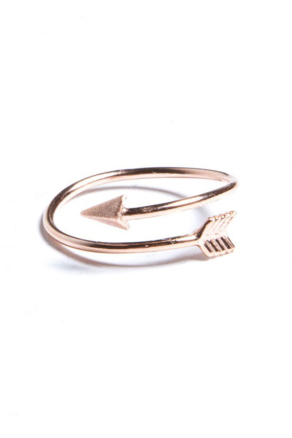 Rose Gold Arrow Ring from Brandy Melville