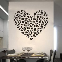Cheetah Spot Print Heart Removable Wall from Amazon | Things I