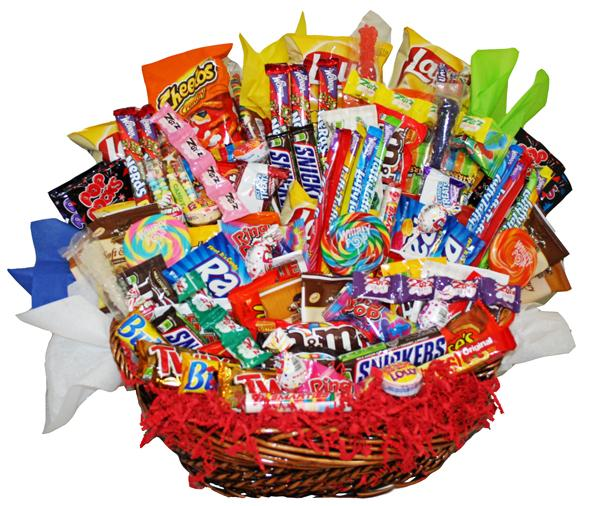 Candy Gift Assorted Candy Gift Basket From