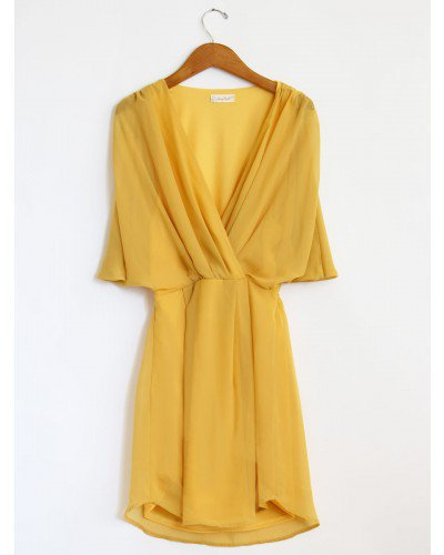 Yellow Sheer Flowy Dress from Mickey39s Girl My Closet