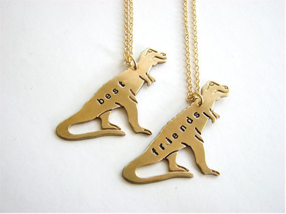 best friends dinosaur necklace