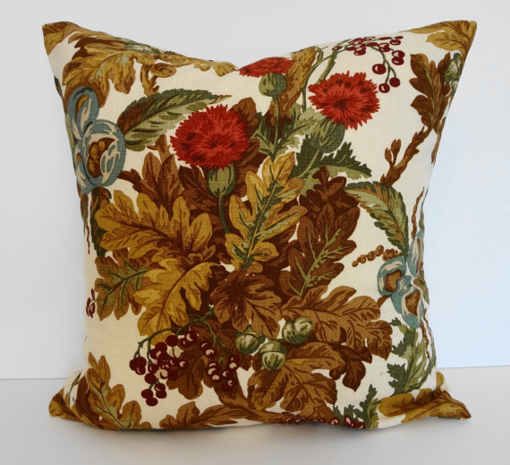 Autumn Leaves Decorative Linen Throw from Pillows4fun