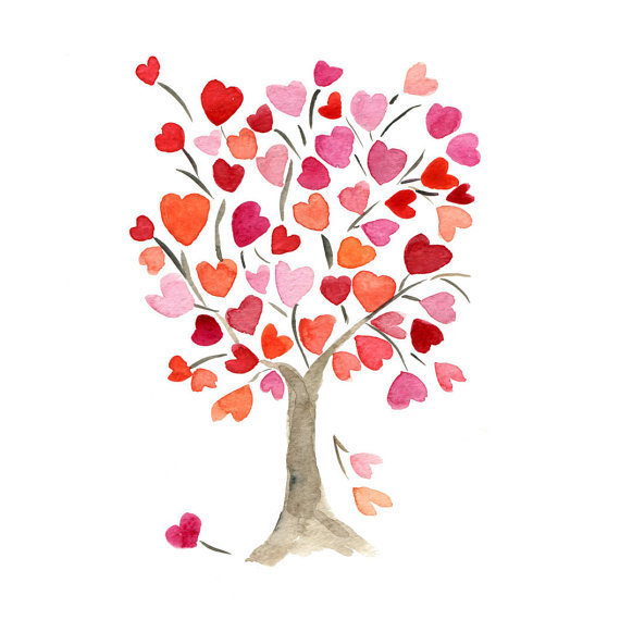 The Hearts Tree Art Print Of Original From TheJoyofColor