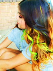 neon ombre clip in human hair extensions