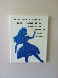 Alice in Wonderland Wall Art from RoyalWhimsyDesigns on Etsy