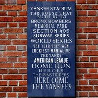 Yankees Bus Roll Baseball Wall Art Home from ...