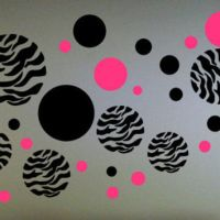 Zebra Print Dots Wall Decal from BigDDesign on Etsy   For the