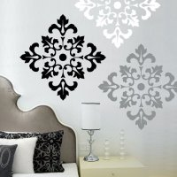 Damask Pattern - Vinyl Wall Decal - large from wordy bird ...