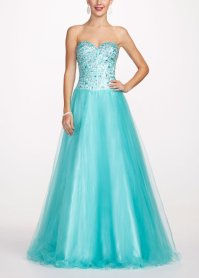 Strapless Prom Dress with Cut Glass from David's Bridal