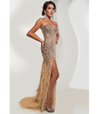 Jasz Couture 2013 Prom -Strapless Gold from Unique Vintage